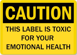 caution label