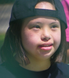She had a great time this spring playing in a local softball league for people with disabilities. SO cool.